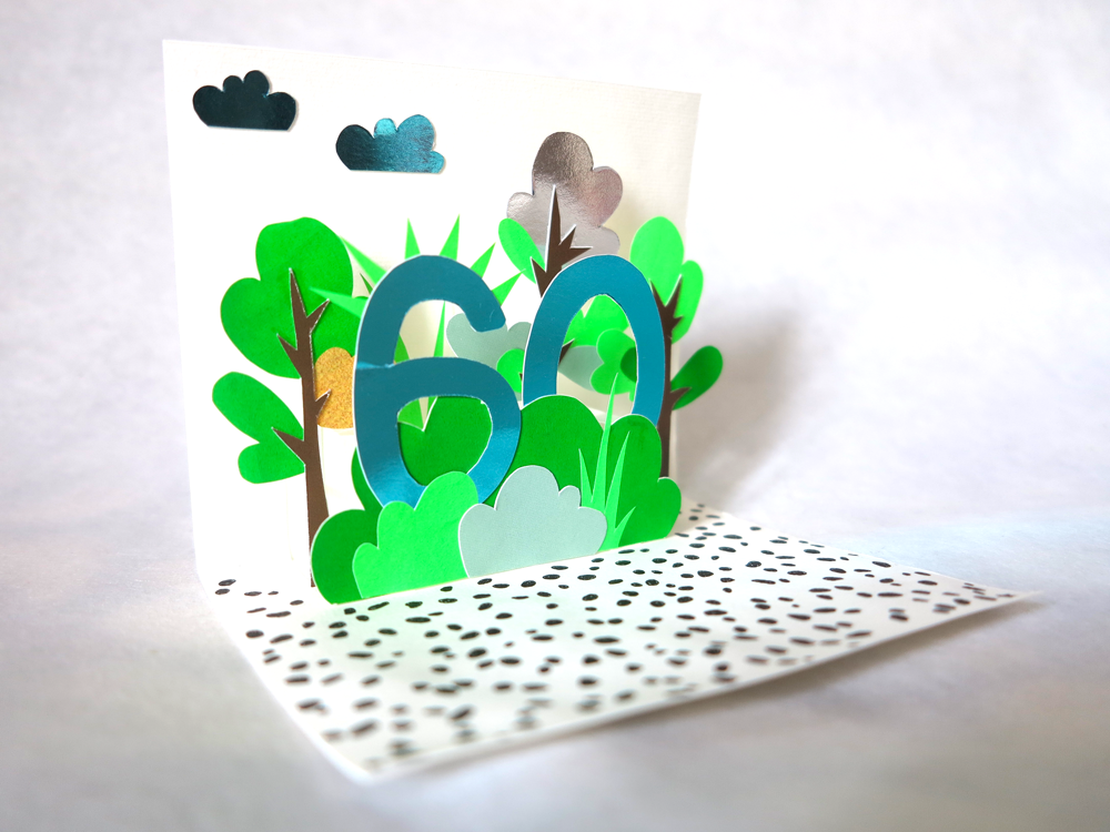 oyeah marion rousseau pop-up carte anniversaire birthday card trees arbres diy popup