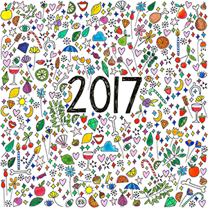 oyeah,marion rousseau,carte,card,gif,HNY,happy new year,bonne annee,2017,meilleurs voeux,print and pattern,surface design,pattern design,textile design