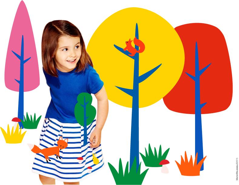 oyeah,marion rousseau,freelance,graphisme,communication,graphism,kids,enfant,petit bateau,jake studio,jake,renard,foret,mariniere,fox,forest,jeu,interactif,foret enchantee,girl,girly,couleurs primaires,primary colours,scenery,mode enfant,kids fashion